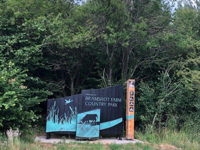 Entrance at Bramshot Farm Country Park