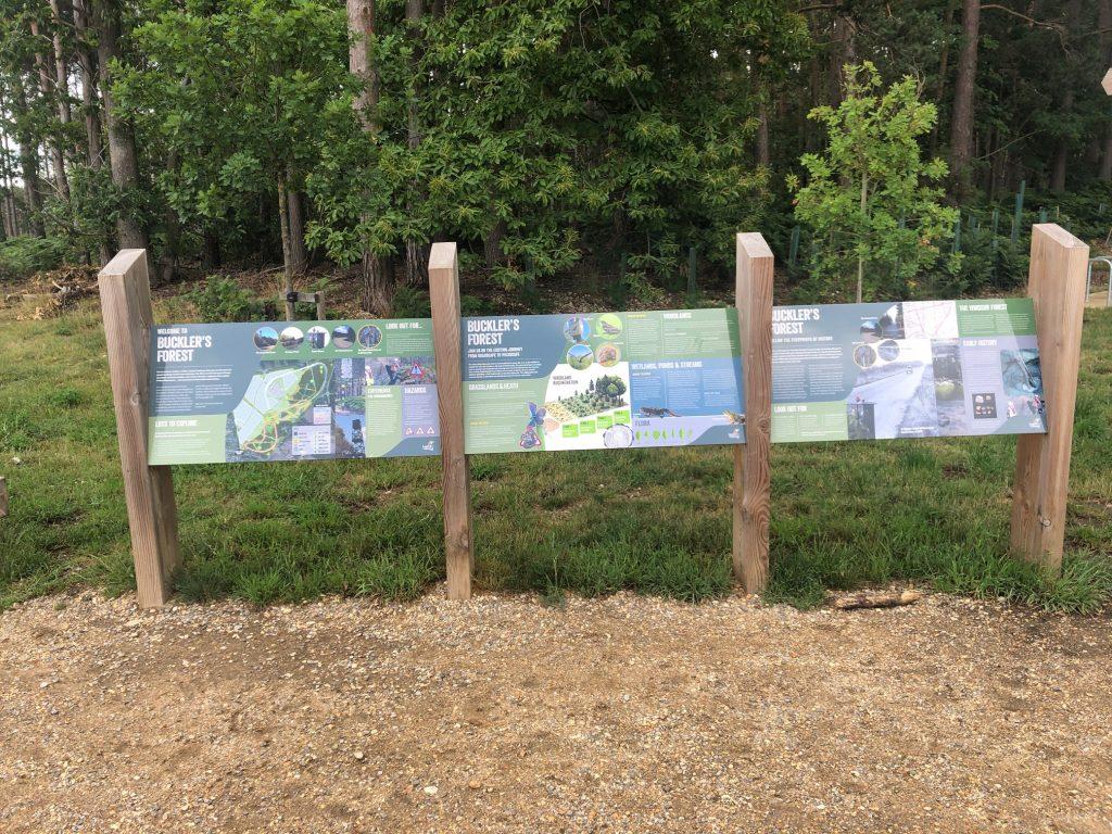 Information board at Buckler's Forest