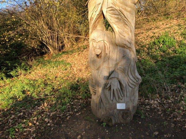 Wooden Sculpture at Braywick Leisure Centre