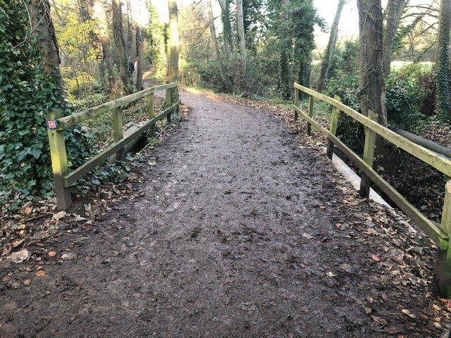 A bridge at the Nature Reserve