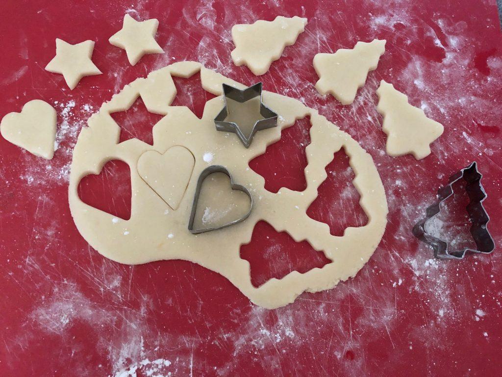 Cutting marzipan shapes