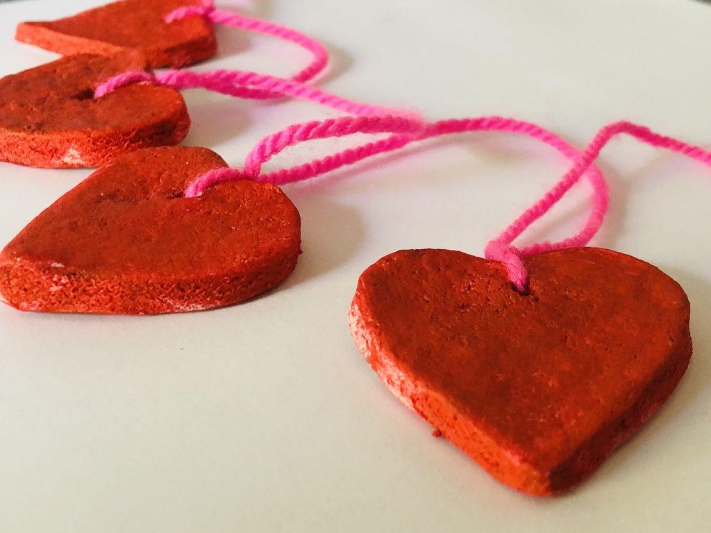 Salt Dough Heart Garland
