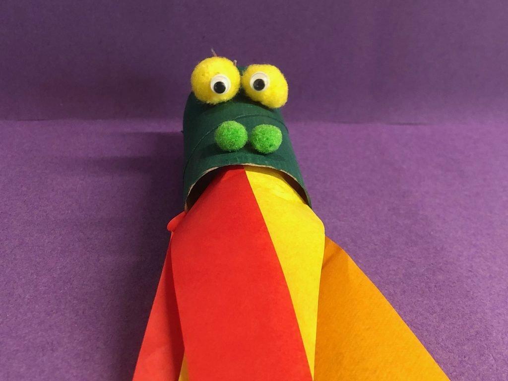 Cardboard Tube Dinosaur