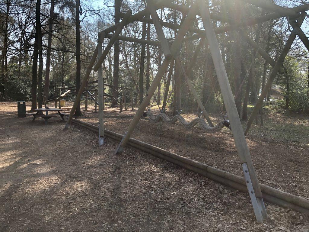 Swing at Pinewood Centre Adventure Playground