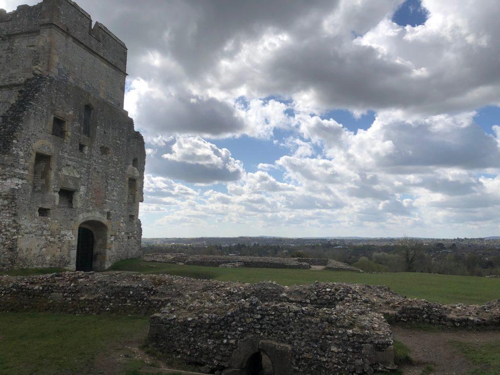 Donnington Castle on the hill