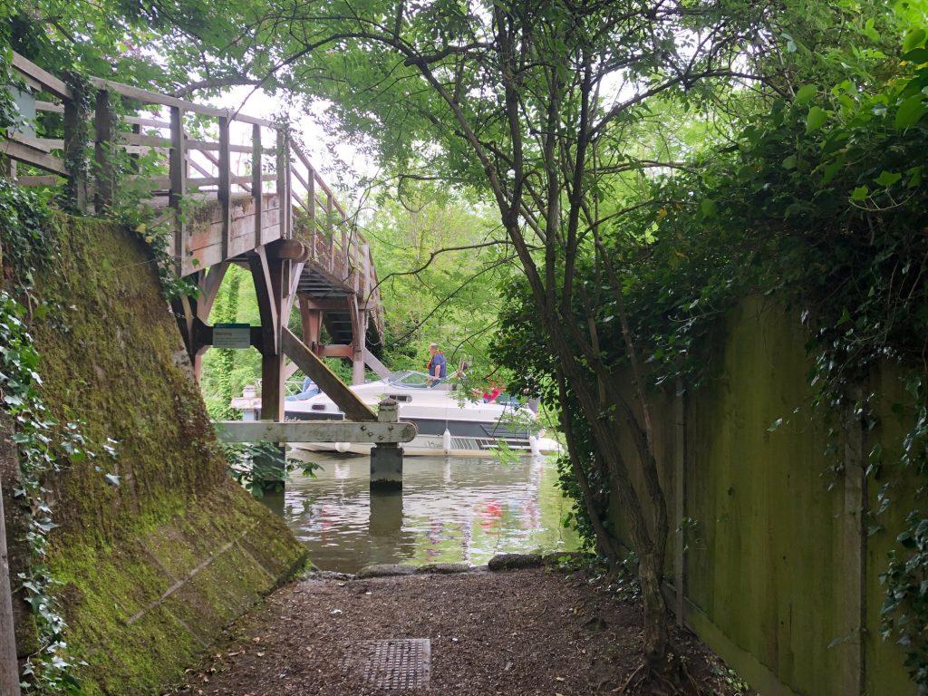 Wooden Bridge Hurley Riverside