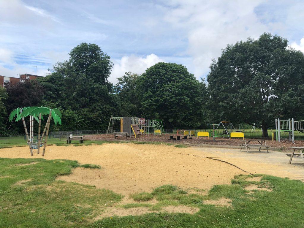 Sand Pit at Riverside Gardens Maidenhead
