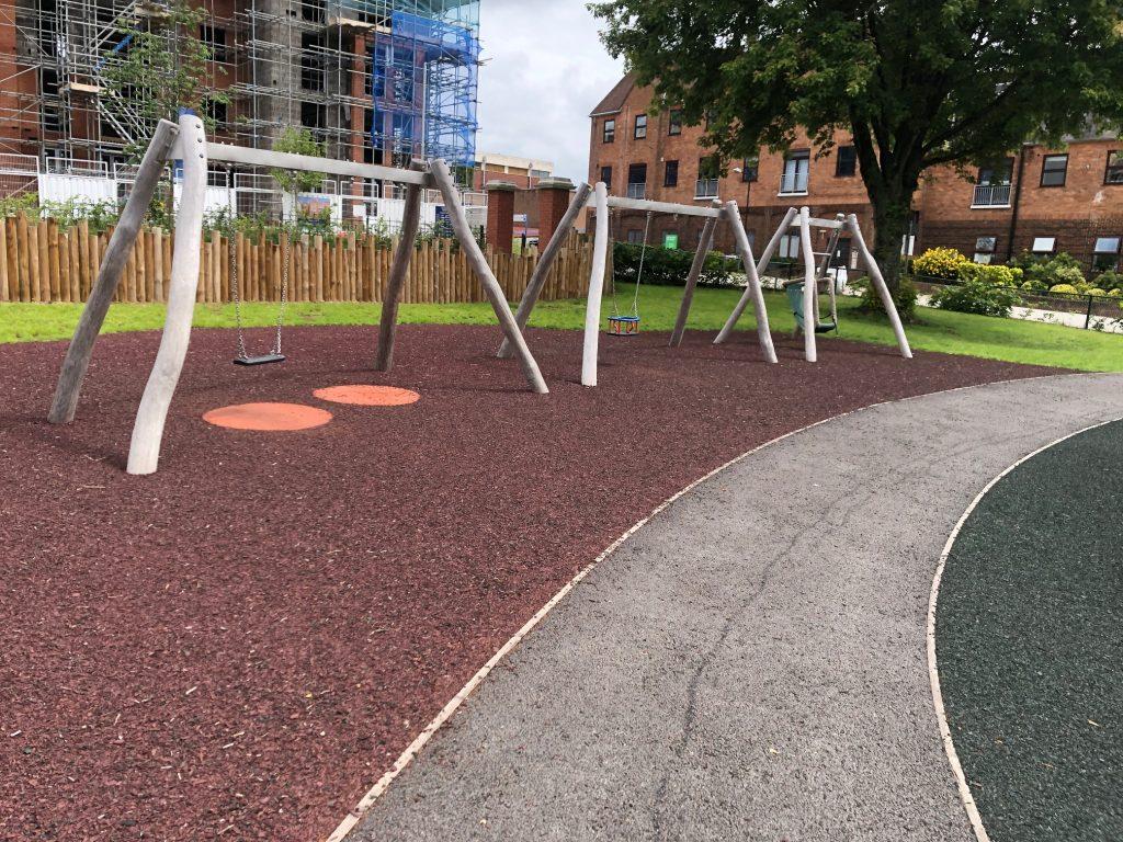 Swings at Elms Field Wokingham