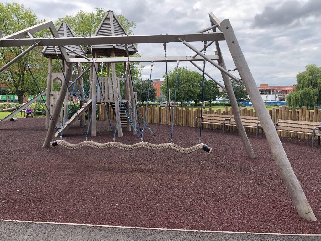 Rope swing Elms Field Play Area