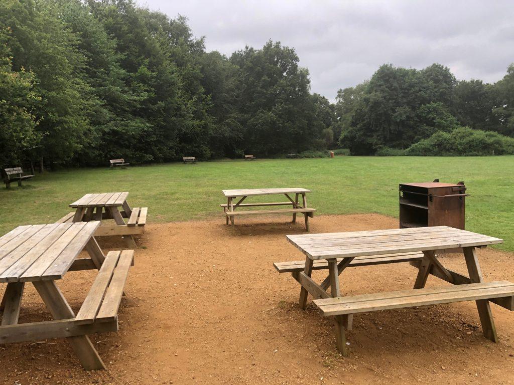 BBQ area Frimley Lodge Park