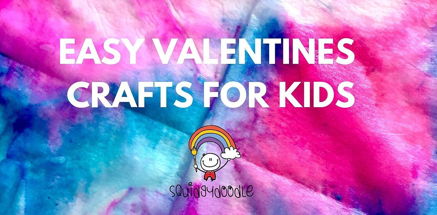 Guest Blog by Squidgydoodle // Easy Valentines Crafts for Kids