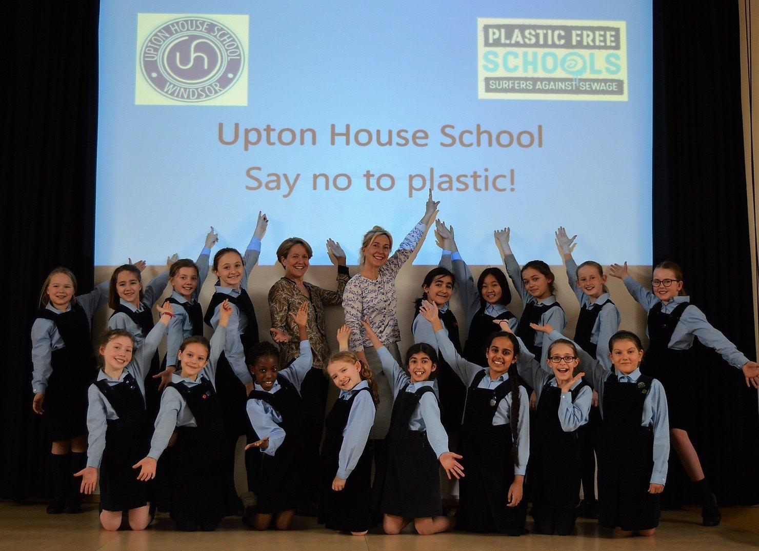Upton House gains Plastic Free School Status