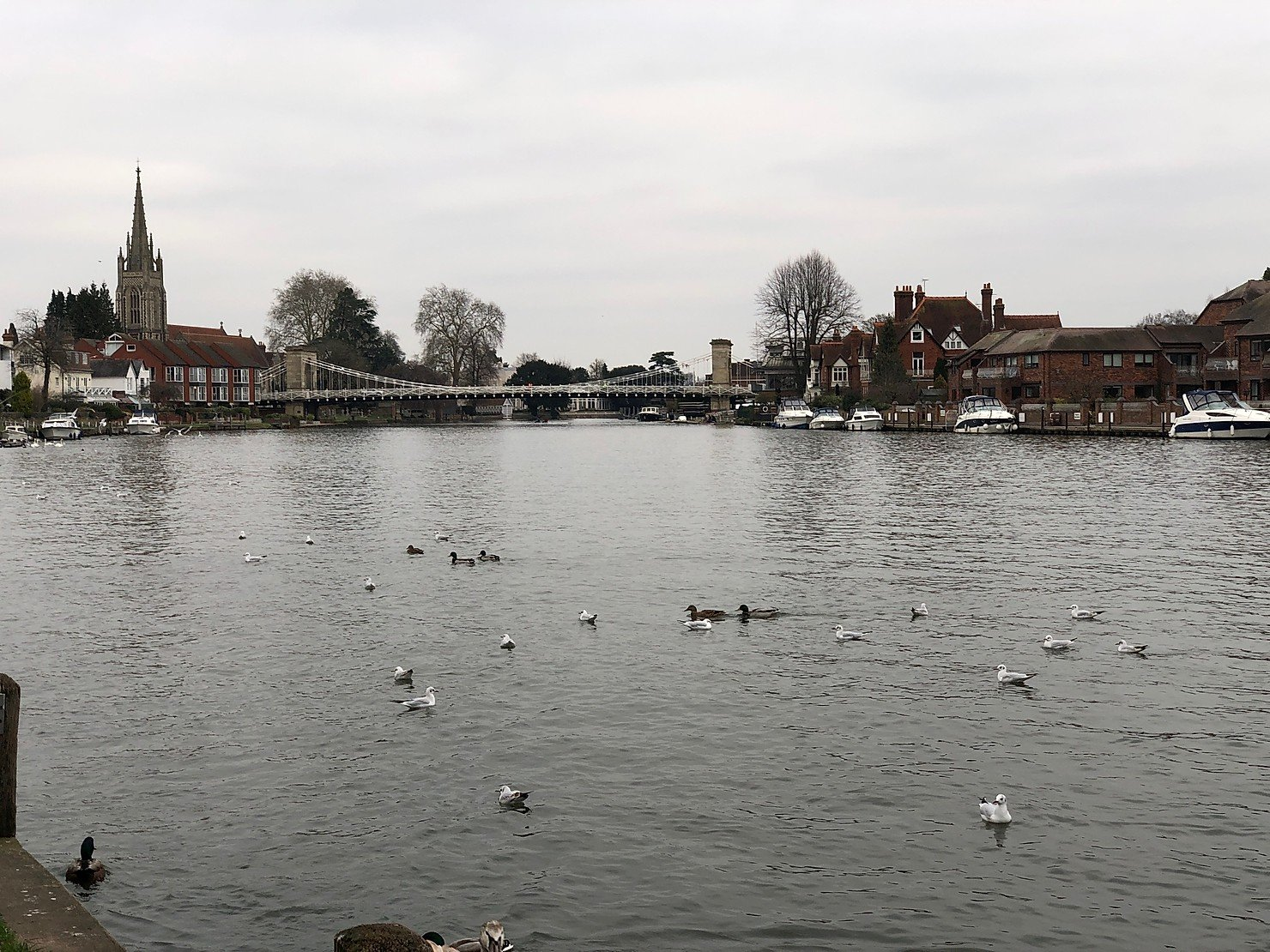 A family walk in Marlow