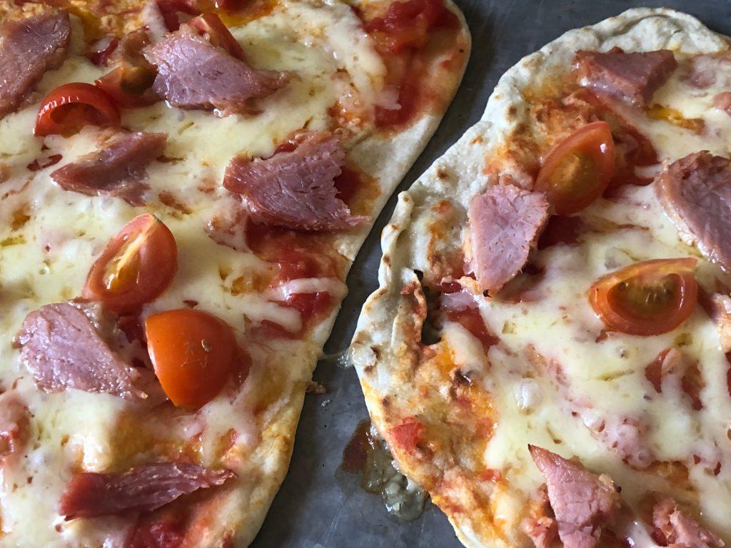 Lockdown Flatbread Pizza Cooked