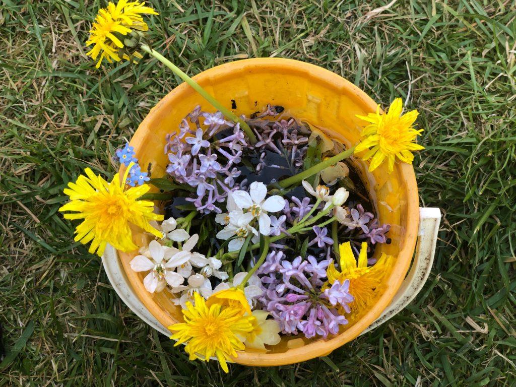 Flower Arrangement made during lockdown in the garden