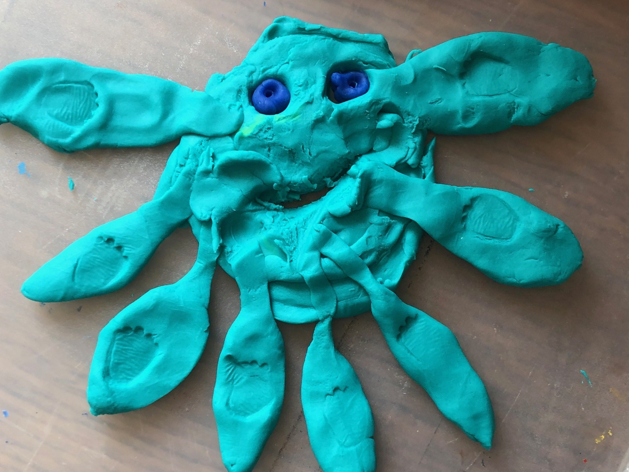 'Drawing' with Play Dough