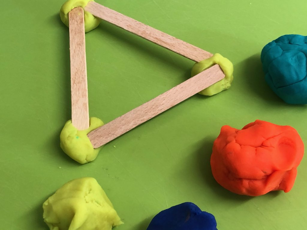 Play Dough and Lolly Sticks