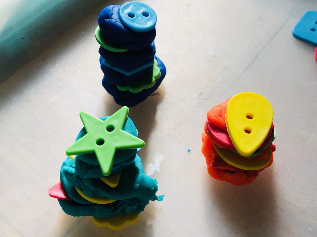 Play Dough Towers