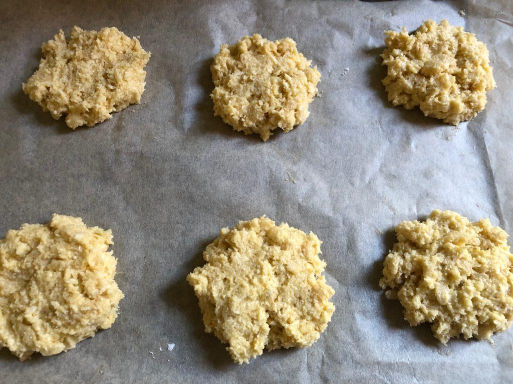 Coconut Crunch Cookies before baking