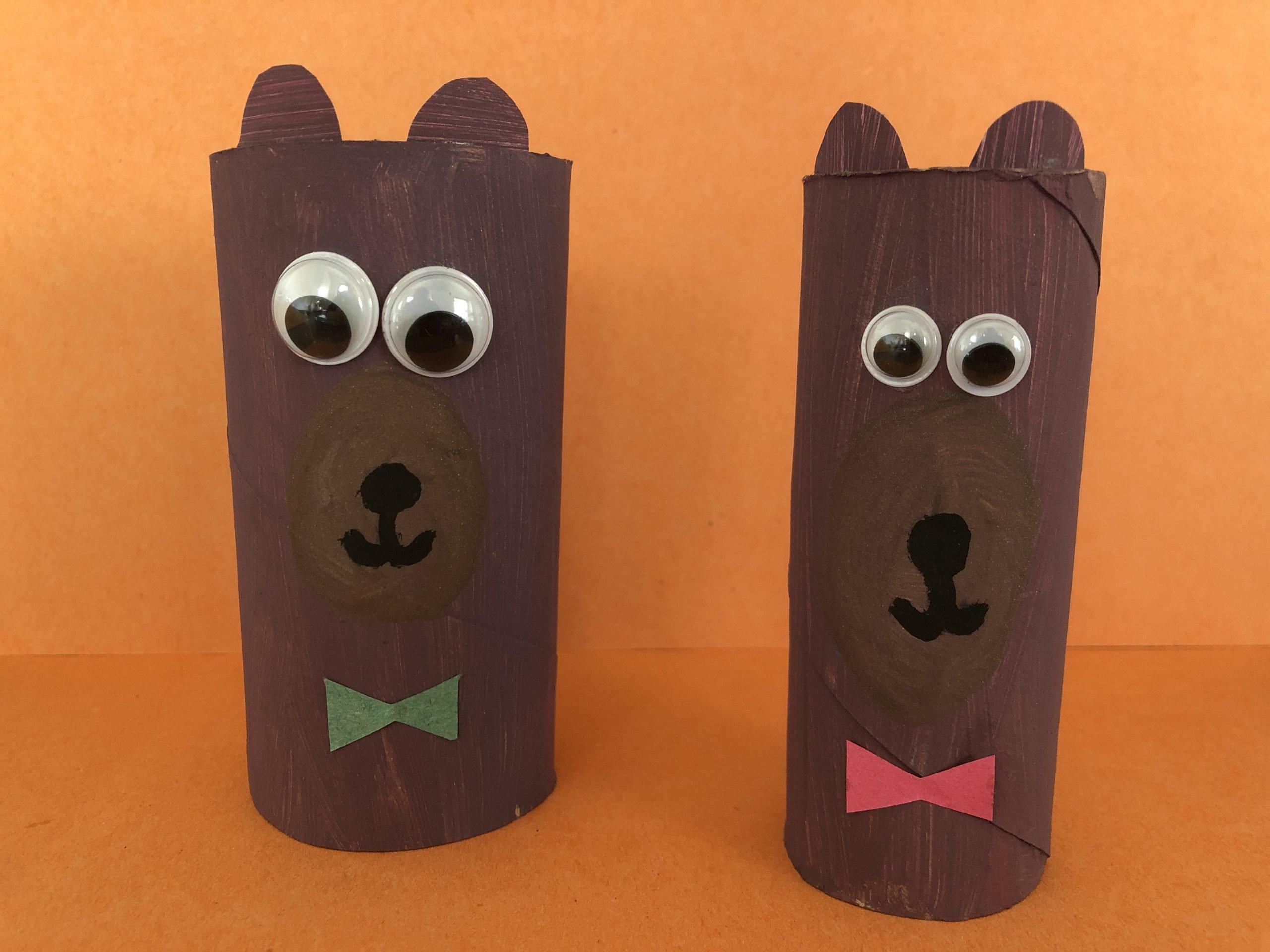 Cardboard Tube Bears