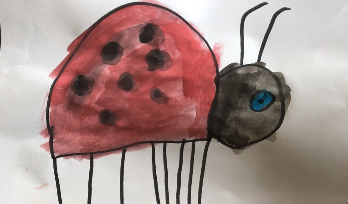 Ladybird Watercoloring Painting