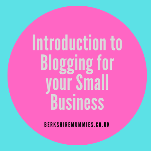 Introduction To Blogging For Your Small Business