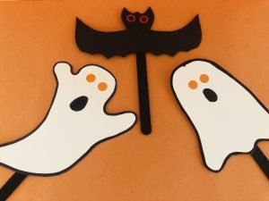 Ghost and Bat Puppets