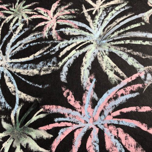 Firework Chalk Drawings