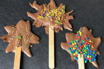 Chocolate Firework Lollies