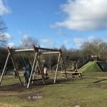 Swing at Dinton Pastures Play Park