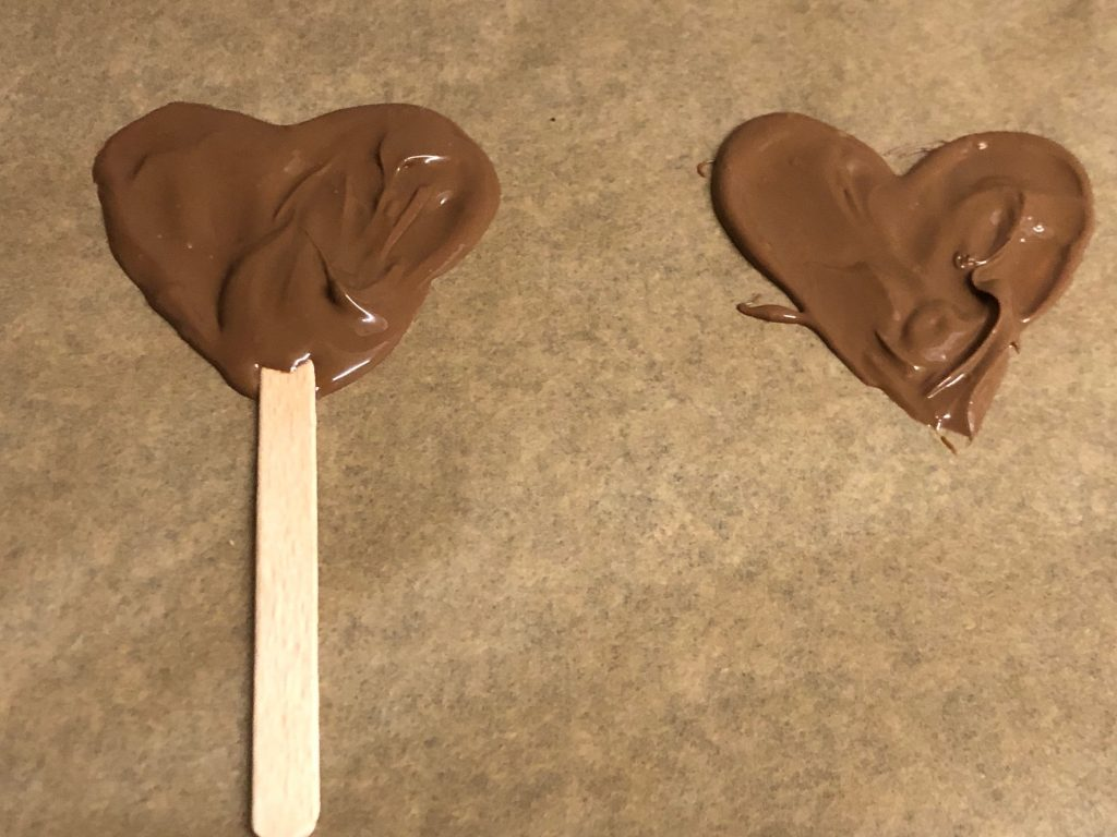 Melted Chocolate Hearts
