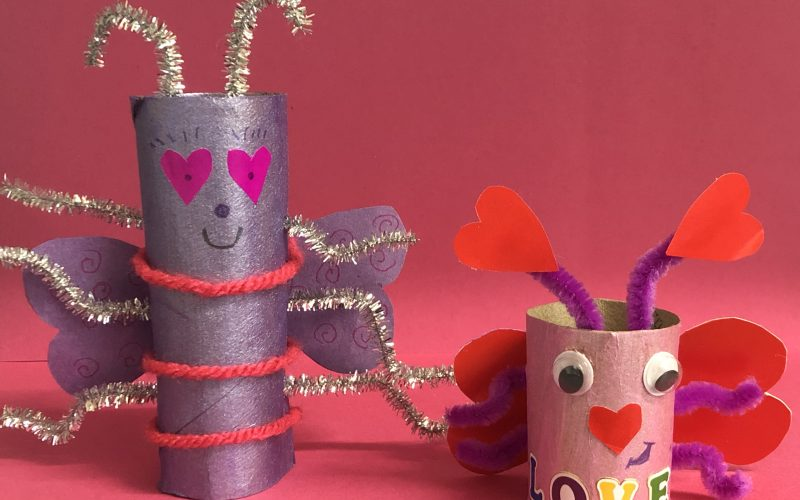 Cardboard Tube Love Bugs
