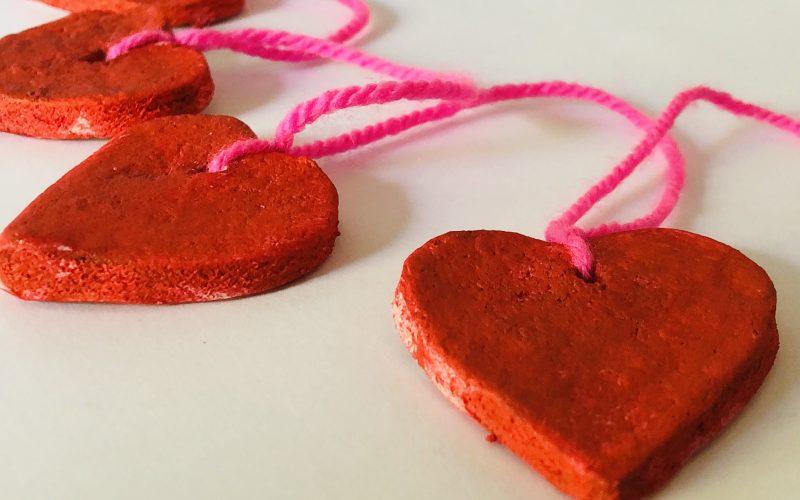 Valentine's Salt Dough Garland