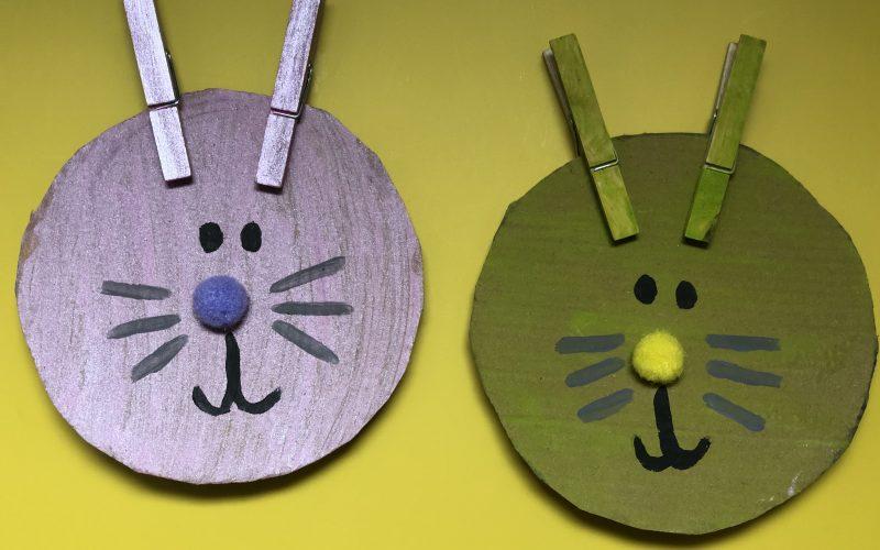 Cardboard Peg Rabbits